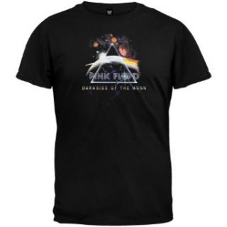Pink Floyd   Mens Prism Planets Small Print T shirt Large Black Clothing