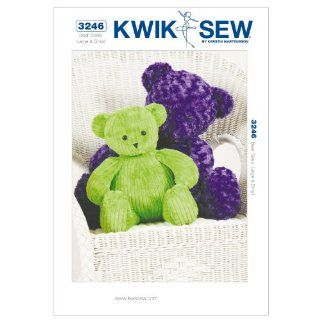 Kwik Sew K3246 Teddy Bears Sewing Pattern, Size Large and Small