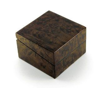Contemporary Solid Wood Single Watch Box with Cr�me Suede Interior Jewelry Boxes Jewelry