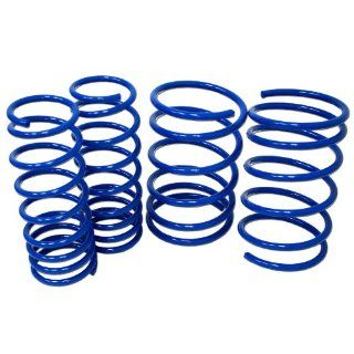 TuningPros LS 069 B Lowering Springs Kit Blue Set of 4 Automotive