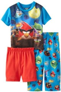 AME Sleepwear Boys Angry Birds Space Set, Blue, 3/Toddler Pajama Sets Clothing