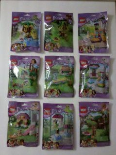 Lego Friends Animals Series 1 2 3 Compete Set of 9 Toys & Games
