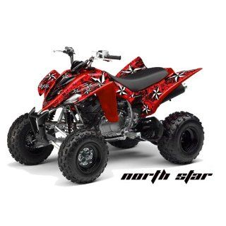 AMR Racing Yamaha Raptor 350 ATV Quad Graphic Kit   Northstar Red, Black Automotive