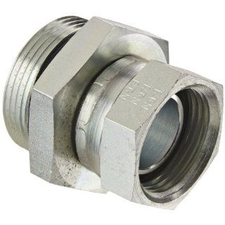 "Eaton Aeroquip 2066 16 20S Steel Pipe Fitting, Adapter, 1"" NPSM Female x 1 1/4"" Male Straight Thread O Ring Industrial Pipe Fittings"