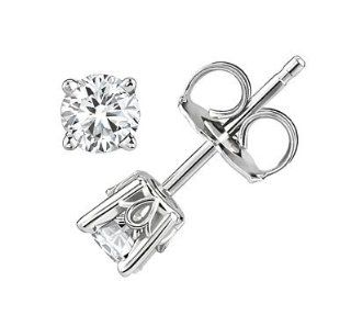 18k White Gold Round Diamond Stud Earrings (G H/SI2, 1/2 ct. tw.) Jewelry