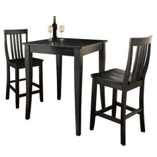 Crosley Three Piece Pub Dining Set with Cabriole Leg Table and