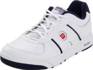 Wilson Men's Pro Staff Classic II Tennis Shoe,White/Navy/Red,11.5 M US Shoes
