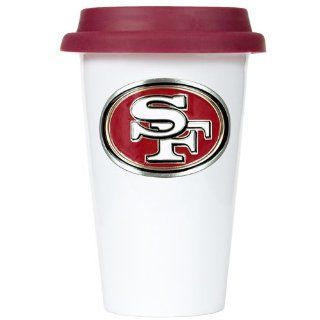 BSS   San Francisco 49ers NFL 12oz Double Wall Tumbler with Silicone Lid