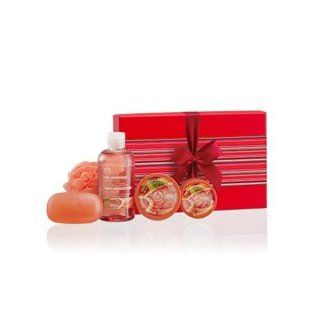 The Body Shop Pink Grapefruit Shower, Scrub & Soften Collection Gift Box Set  Bath And Shower Product Sets  Beauty