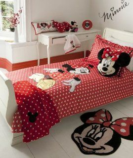 MINNIE MOUSE RED TWIN OFFICIAL LICENSED WALT DISNEY COTTON DUVET QUILT COVER  Duvet Cover Sets