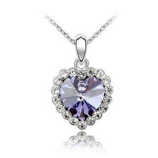 Charm Jewelry Swarovski Crystal Element18k Gold Plated Tanzanite a Lifetime of Love Necklace Z#702 Zg4da3d2 Jewelry