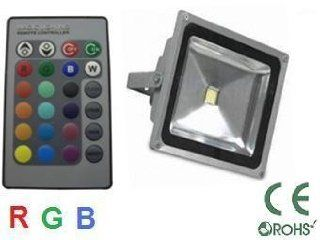GLB 60 Watt RGB LED Flood light with Remote Control, 16 color choices, Wall wash