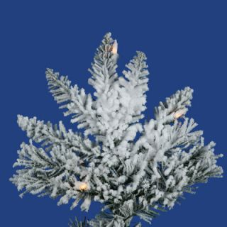 Vickerman Flocked Utica Fir 10 White Artificial Christmas Tree with