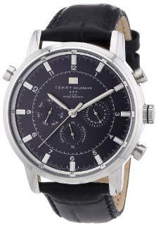 Tommy Hilfiger 1790875 Mens Black Harrison Chronograph Watch at  Men's Watch store.