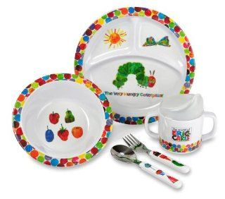 Kids Preferred The World Of Eric Carle Very Hungry Caterpillar 5 Piece Feeding Set  Baby Dinnerware Sets  Baby