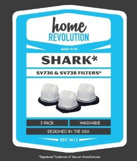 Shark Cordless Hand Vac Home Revolution Brand Replacement Filter 3PK; Made To Fit Shark Hand Vac model SV726; Made To Fit Shark Part #XSB726N   Crafted by Home Revolution   Household Vacuum Filters Handheld