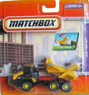 "2010 Matchbox 4"" Real Working Rigs Die Cast, (Yellow/Black) JCB 726 ADT Truck, Articulated w/Tilting Trailer Toys & Games"