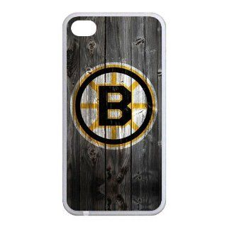 Most Popular Unique Designer NHL Boston Bruins   iPhone 4/4S Cover, Cell Phone Case  White Cell Phones & Accessories