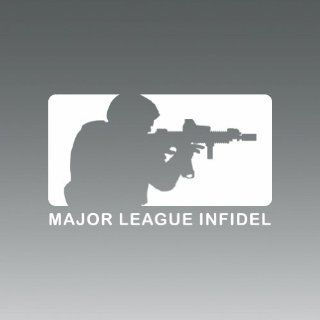 (2x) Major League Infidel   Sticker   Decal   Die Cut Automotive