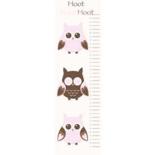 Secretly Designed Owl Growth Chart Wall Decal