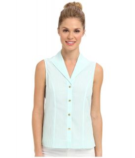 Jones New York Sleeveless Blouse Womens Sleeveless (White)