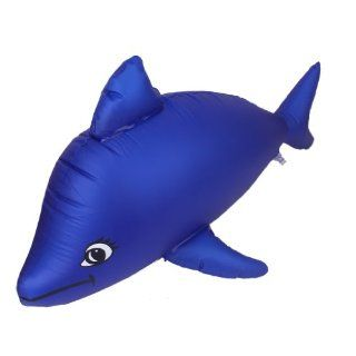 Children Inflatable Dolphin Beach Toy Deep Blue, Great for Birthday Christmas Halloween Party Toys & Games