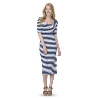 Mossimo Supply Co. Juniors Printed Midi Dress   Nightfall Blue XL(15 17)