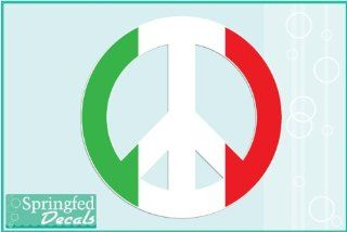 "Italian Flag Peace Sign 3"" Vinyl Decal Car Truck Window Sticker"