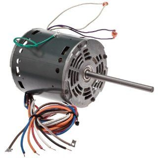 "Fasco D724 5.6"" Frame Open Ventilated Permanent Split Capacitor Direct Drive Blower Motor with Sleeve Bearing, 3/4 1/2 1/3 1/4HP, 1075rpm, 115V, 60Hz, 9.5 7.2 5.6 3.5 amps Electronic Component Motors"