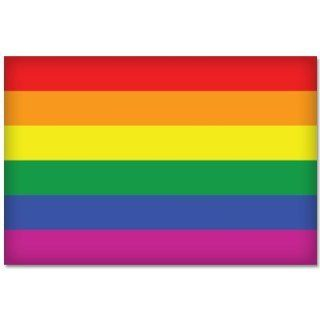 "GAY PRIDE Rainbow Flag car bumper sticker decal 5"" x 4"" Automotive"