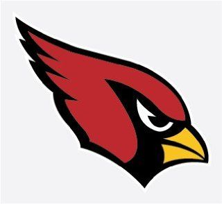 "ARIZONA CARDINALS 8"" Football Vinyl Decal Car Truck Stickers NFL"