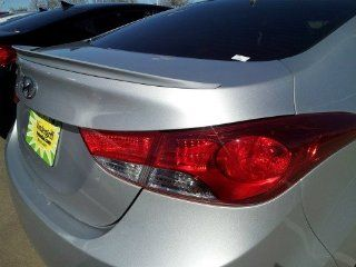 Unpainted Primer Hyundai Elantra Lip Spoiler 2011+ Korean Factory Style Automotive