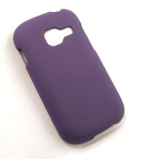 Samsung Cricket R740 Purple Solid Hard Case Cell Phones & Accessories