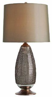 Arteriors DK42046 766 Chainmail Tall Antique Brass/Distressed Mercury Glass Lamp   Table Lamps