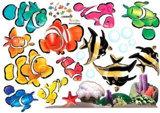 Tropical Fish Nursery/Kids Room Wall Art Sticker Decals   Childrens Wall Decor