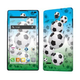 LG Optimus L9 P769 Vinyl Decal Sticker Skin   Soccer Balls By SkinGuardz Cell Phones & Accessories