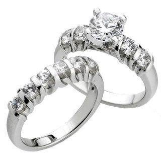 0.75 Carat (Ctw) 14k White Gold Round Diamond Ladies Bridal Semi Mount Ring Set (No Center Stone) Jewelry