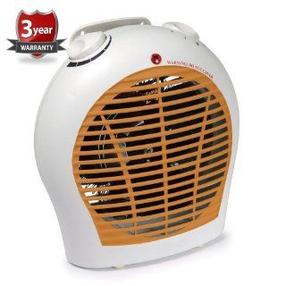 Smart 1500 Watt Quiet Fan Space Heater Table Top Forced Air Heat Portable & Adjustable Thermostat Home & Kitchen