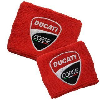 Ducati NEW Corse Red Brake and Clutch Reservoir Sock Cover Set Fits 748, 749, 848, 848 Evo, 916, 996, 998, 999, 1098, 1198, ST2, ST3, ST4, Streetfighter, Hypermotard, Multistrada, Monster 1100 Automotive