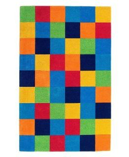 KAS Rugs 0420 Kidding Around Girl's Blocks Area Rug, 5 Feet by 7 Feet 6 Inch, Multicolor