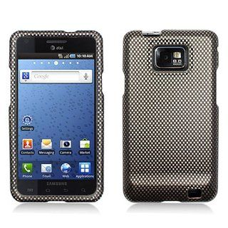 Black Carbon Fiber Print Hard Cover Case for Samsung Galaxy S2 S II AT&T i777 SGH i777 Attain i9100 Cell Phones & Accessories