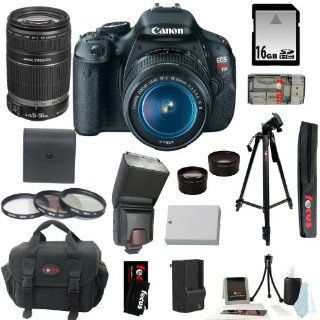 Canon EOS Rebel T3i SLR Digital Camera Kit with Canon 18 55mm IS Lens + TTL Flash for Canon Cameras + Wide Angle Macro Lens + 2x Telephoto Lens + 16GB SDHC + Replacement LP E8 Battery & Charger + Focus 57 inch Tripod w/ Case + Accessory Kit  Digital S
