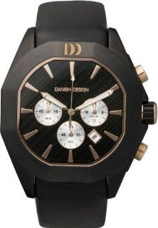Danish Design IQ17Q756 Leather Band Stainless Steel Case Chronograph Men's Watch Watches