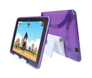 iShoppingdeals   Purple TPU Rubber Cover Skin Case and Multi Angel View Stand Holder for  Kindle Fire HD 8.9 INCH Electronics