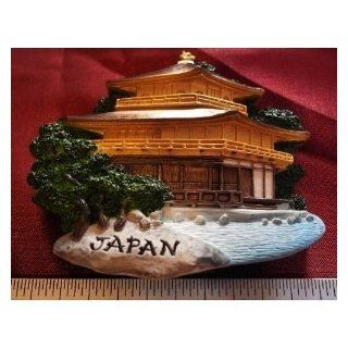 Golden Temple Japan Japanese Castle High Quality Resin 3D fridge Refrigerator Thai Magnet Hand Made Craft Kitchen & Dining