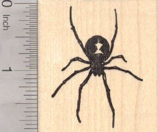 Black Widow Spider Rubber Stamp