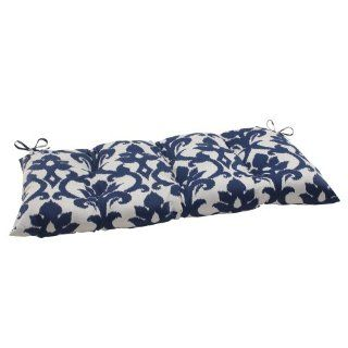 Pillow Perfect Indoor/Outdoor Bosco Tufted Loveseat Cushion, Navy   Patio Furniture Cushions