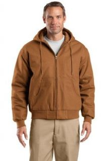 CornerStone Duck Cloth Hooded Work Jacket (J763H) Available in 3 Colors Clothing