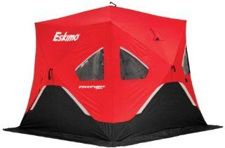 Eskimo FF767 FatFish 2 3 Person Pop Up Portable Ice Shelter, Red/Black  Fatfish  Sports & Outdoors