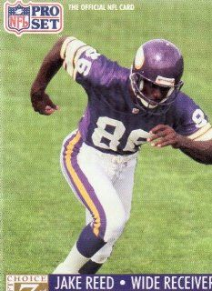 JAKE REED, WIDE RECEIVER, MINNESOTA VIKINGS, #86, Card #797, NFL Pro Set Card, The Official NFL Card, Official Photo and Stat Card of the NFL 1991